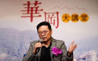 灣聲樂團總監李哲藝受邀來到文化大學分享個人的音樂理念與一生職志。(圖:文化大學提供)