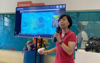 海科館水下機器人深入潮境海灣直播 保育區秘密花園展廳即時連線觀賞驚呼連連